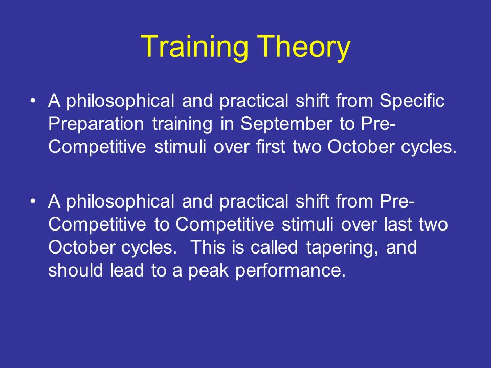 Training Theory