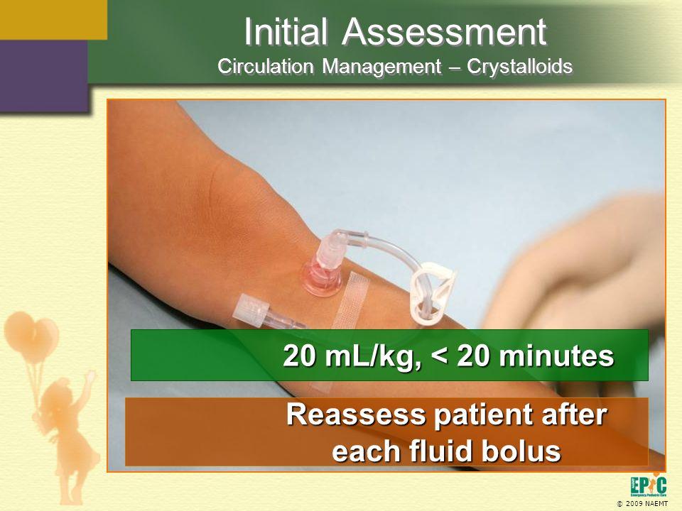 Initial Assessment Circulation Management – Crystalloids