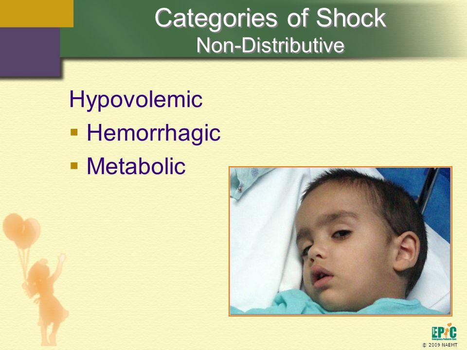 Categories of Shock Non-Distributive
