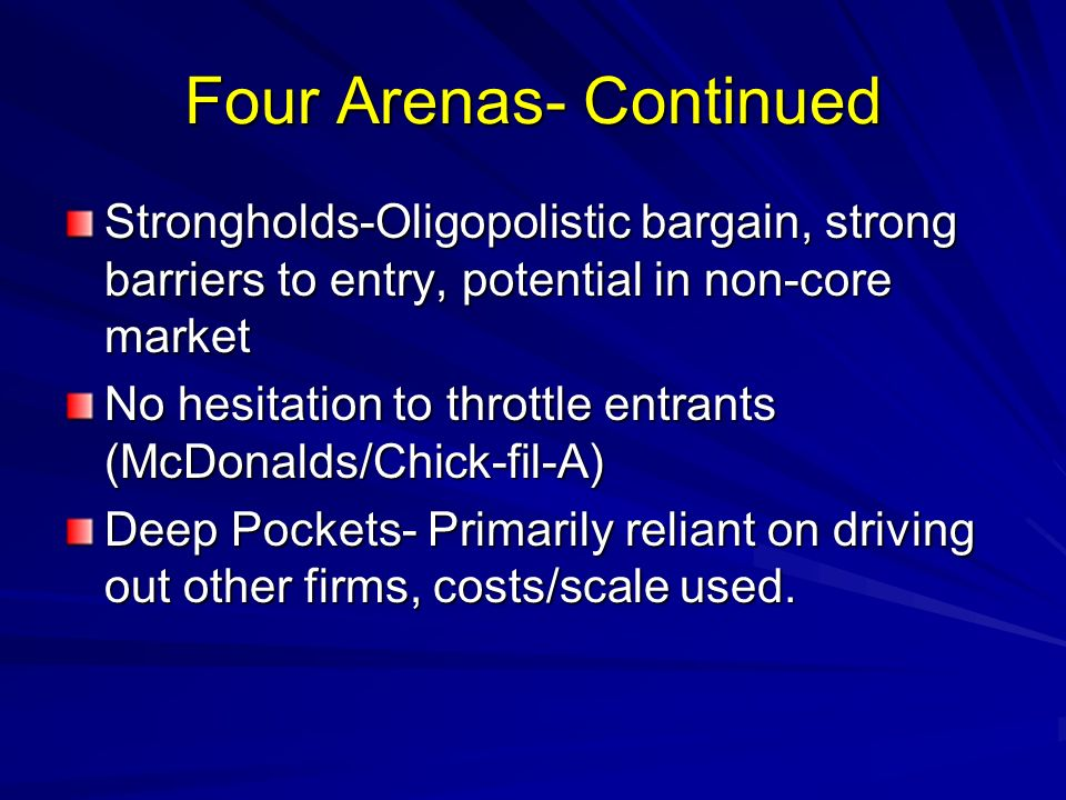 Four Arenas- Continued