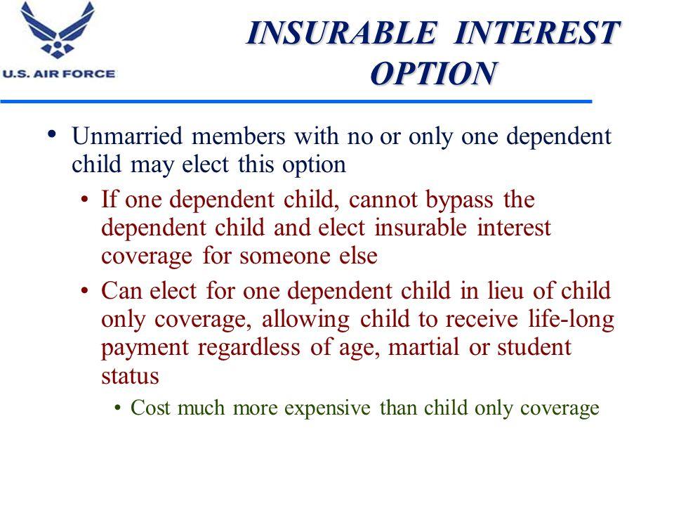 INSURABLE INTEREST OPTION