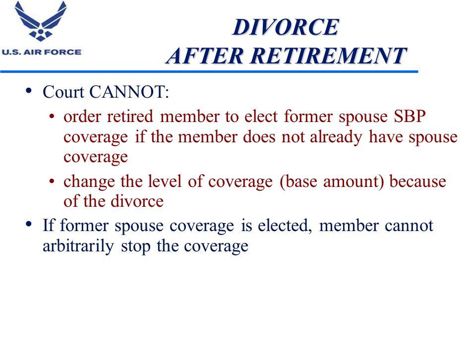 DIVORCE AFTER RETIREMENT