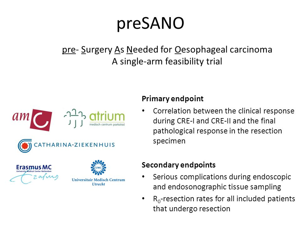 preSANO pre- Surgery As Needed for Oesophageal carcinoma
