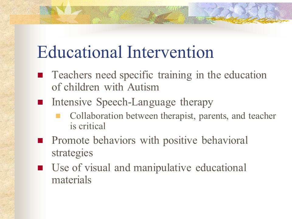 Educational Intervention