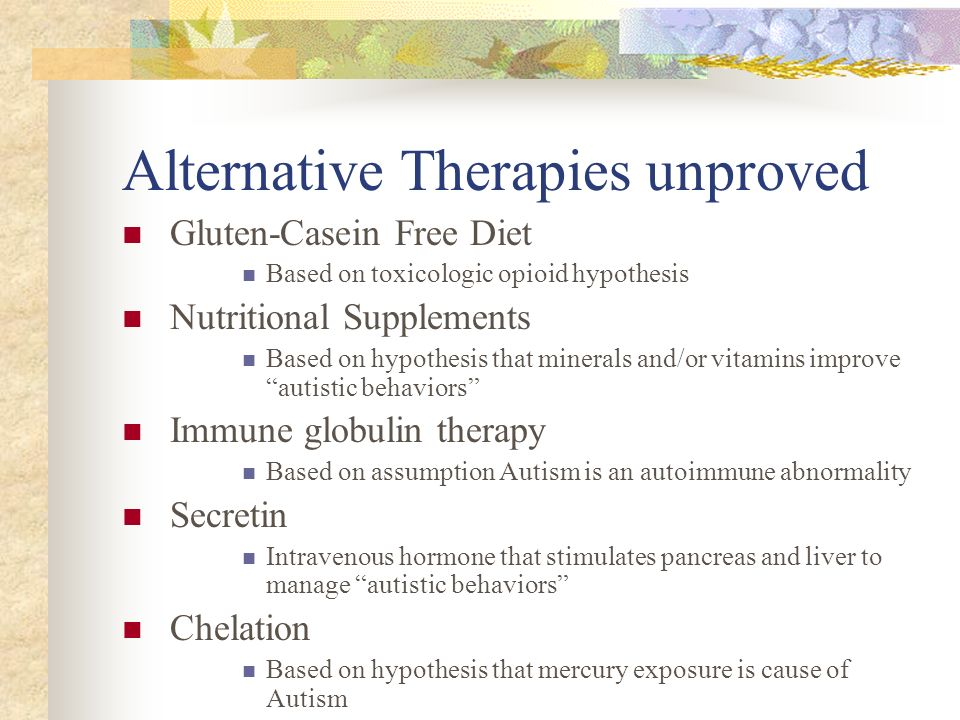 Alternative Therapies unproved