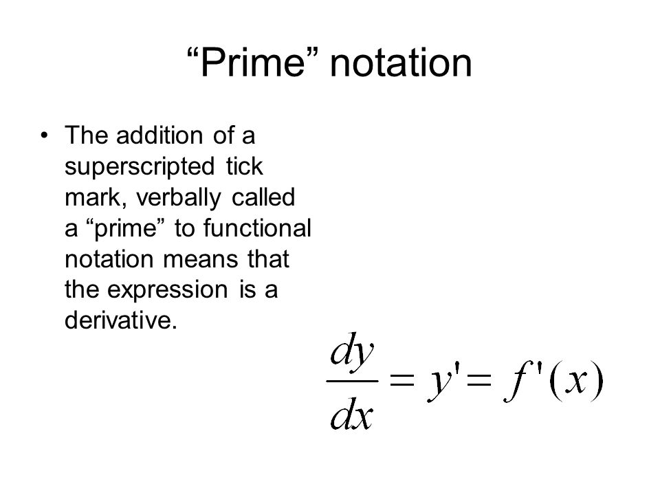 Prime notation