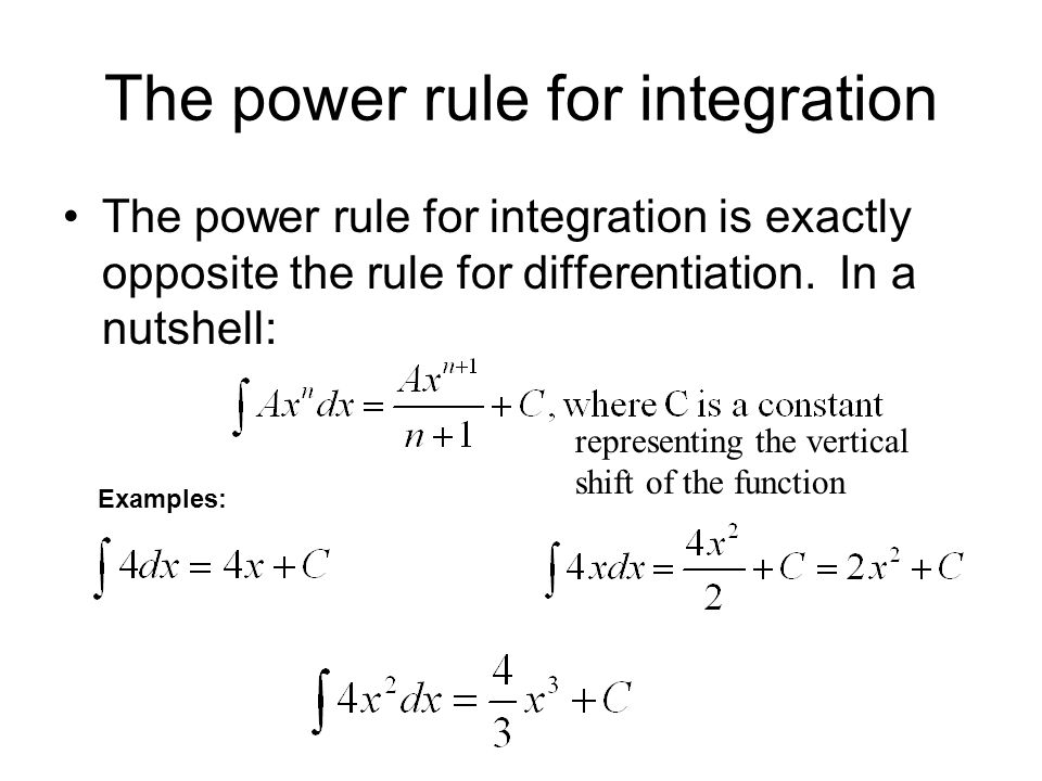 The power rule for integration