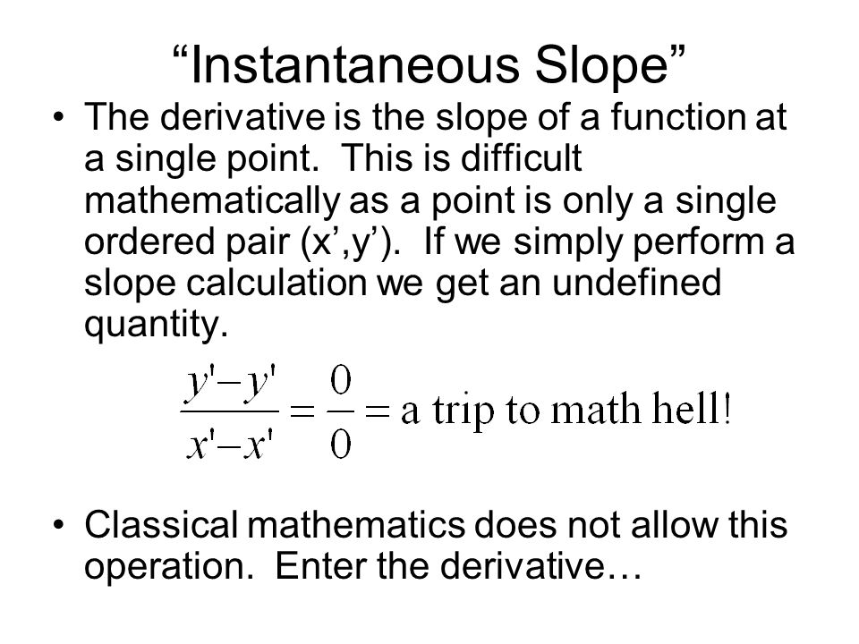Instantaneous Slope
