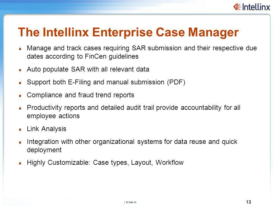 The Intellinx Enterprise Case Manager