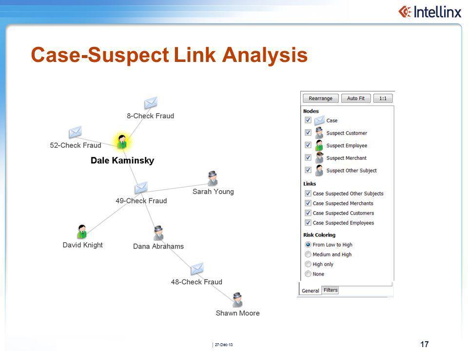 Case-Suspect Link Analysis