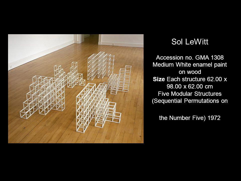 Sol LeWitt Accession no