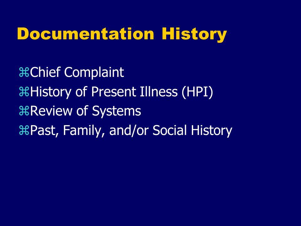 Documentation History