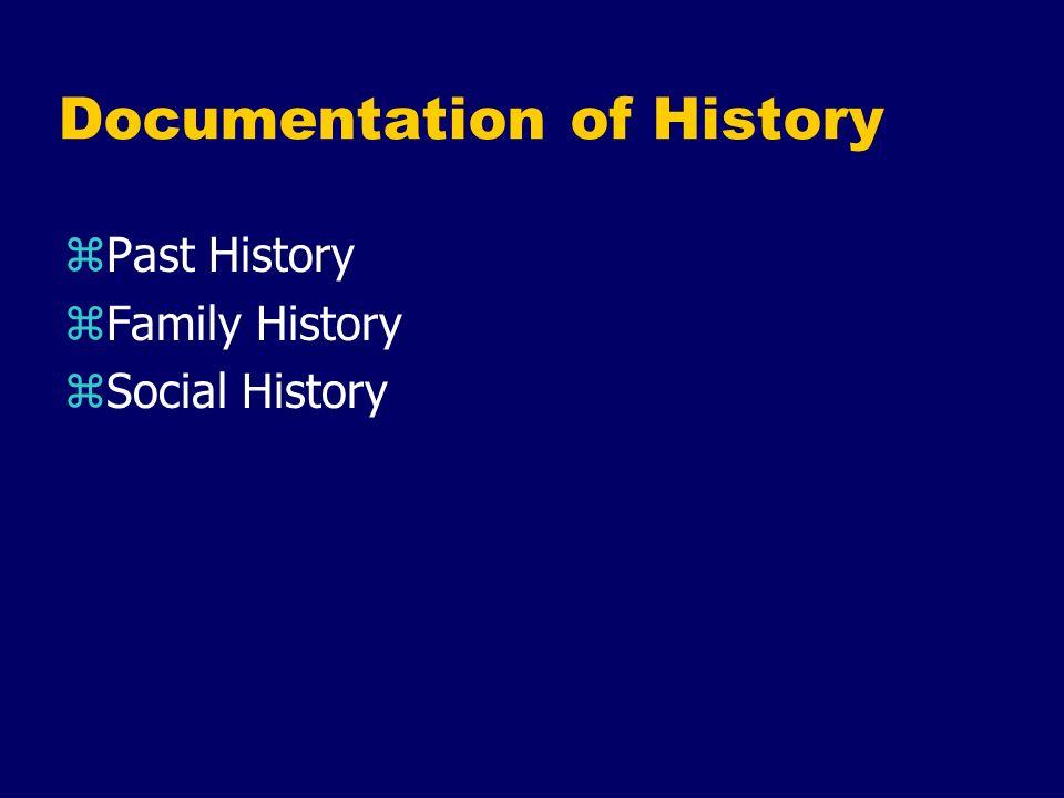 Documentation of History