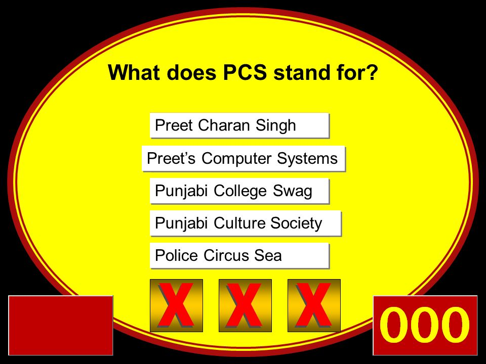 X X X X X X X X X What does PCS stand for Preet Charan Singh