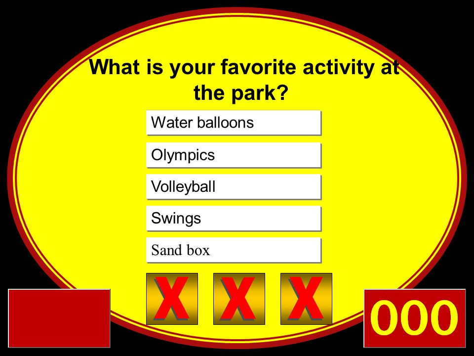 What is your favorite activity at the park