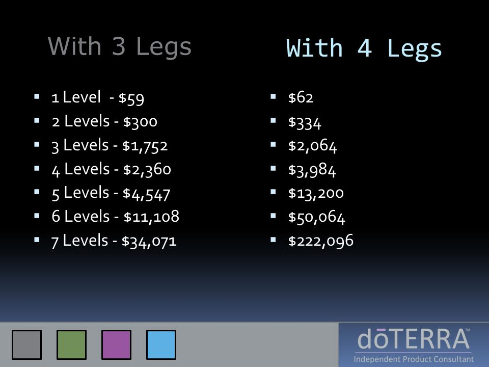 With 4 Legs With 3 Legs 1 Level - $59 2 Levels - $300