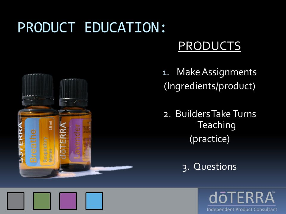 PRODUCT EDUCATION: PRODUCTS Make Assignments (Ingredients/product)