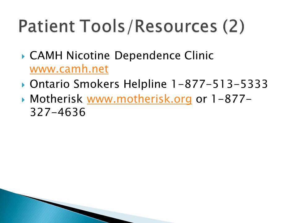 Patient Tools/Resources (2)