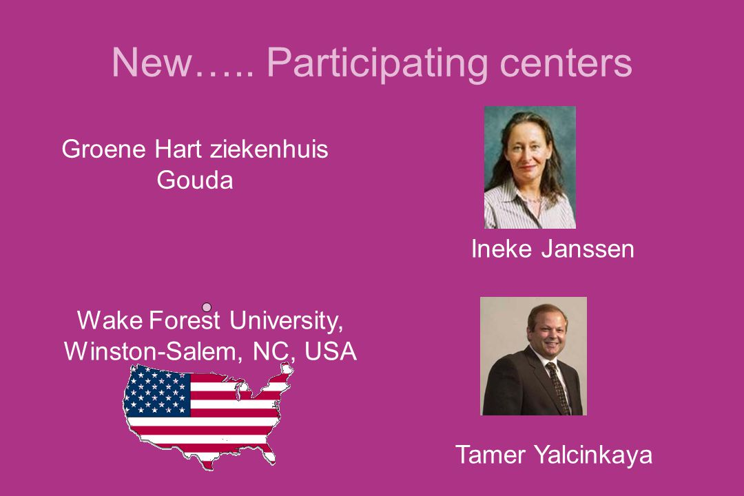 New….. Participating centers
