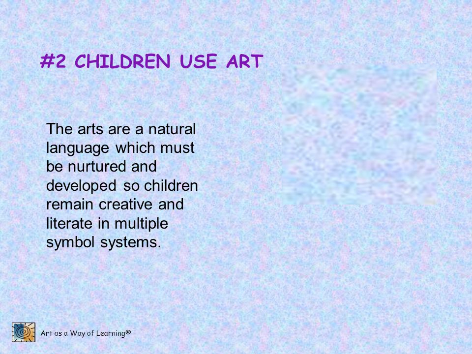 #2 CHILDREN USE ART
