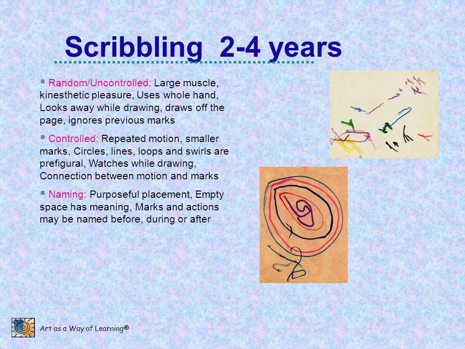 Scribbling 2-4 years