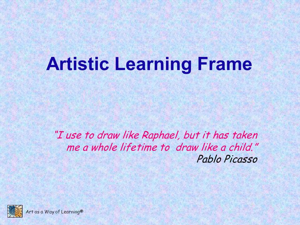 Artistic Learning Frame