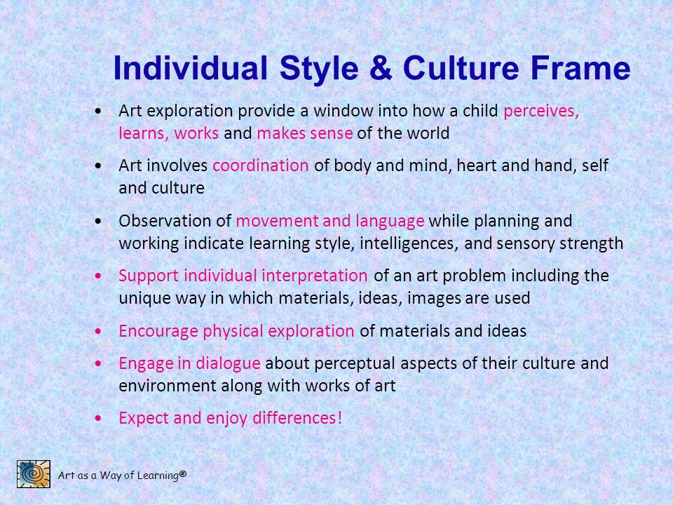 Individual Style & Culture Frame