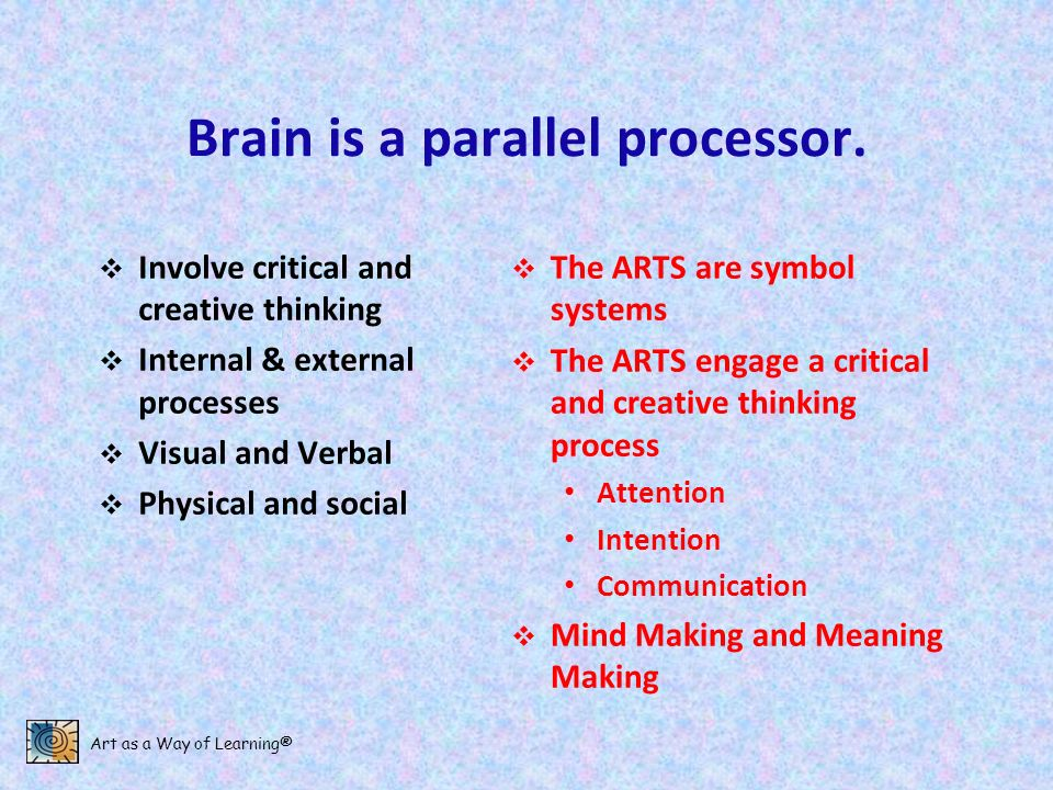 Brain is a parallel processor.
