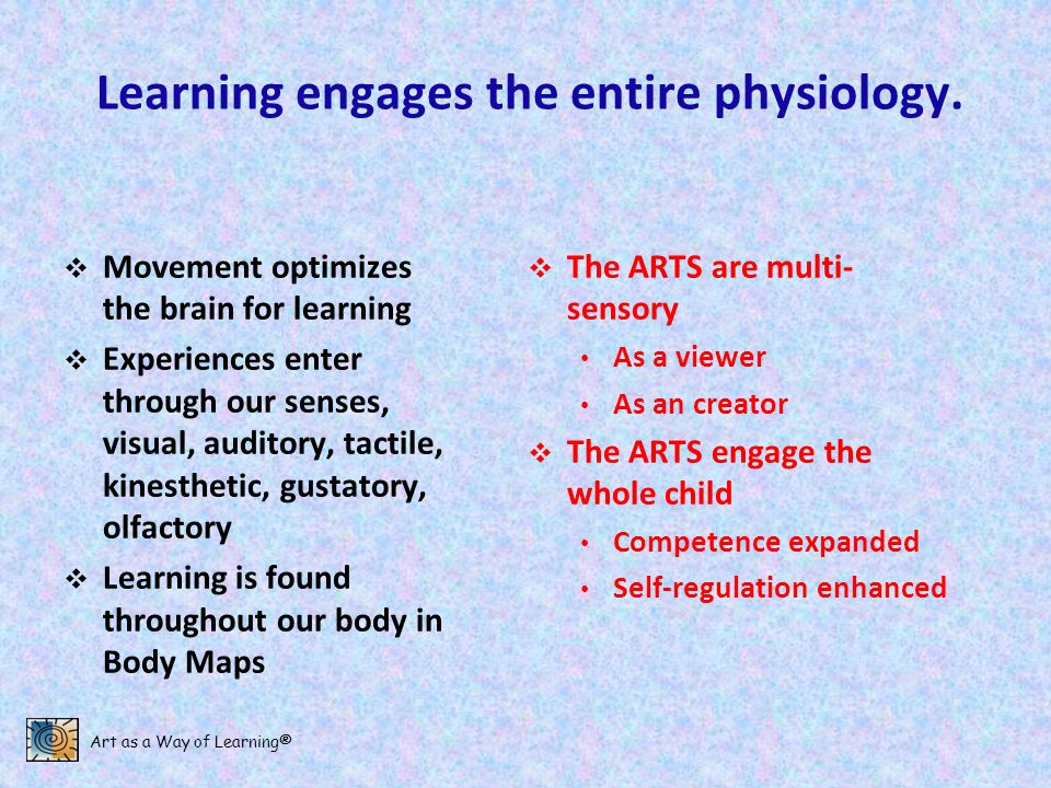 Learning engages the entire physiology.