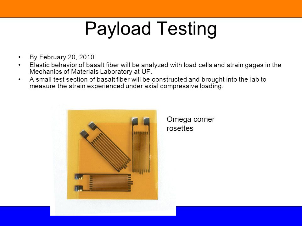 Payload Testing Omega corner rosettes By February 20, 2010
