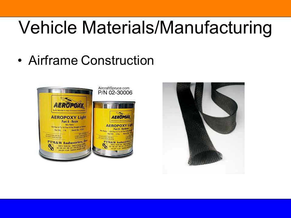 Vehicle Materials/Manufacturing