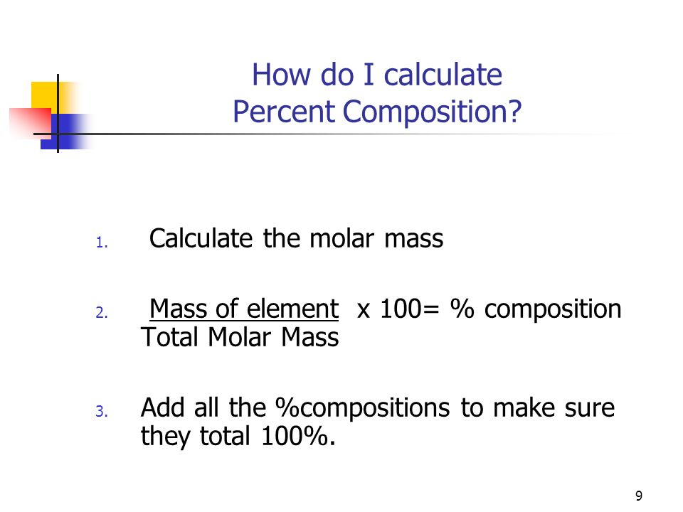 How do I calculate Percent Composition