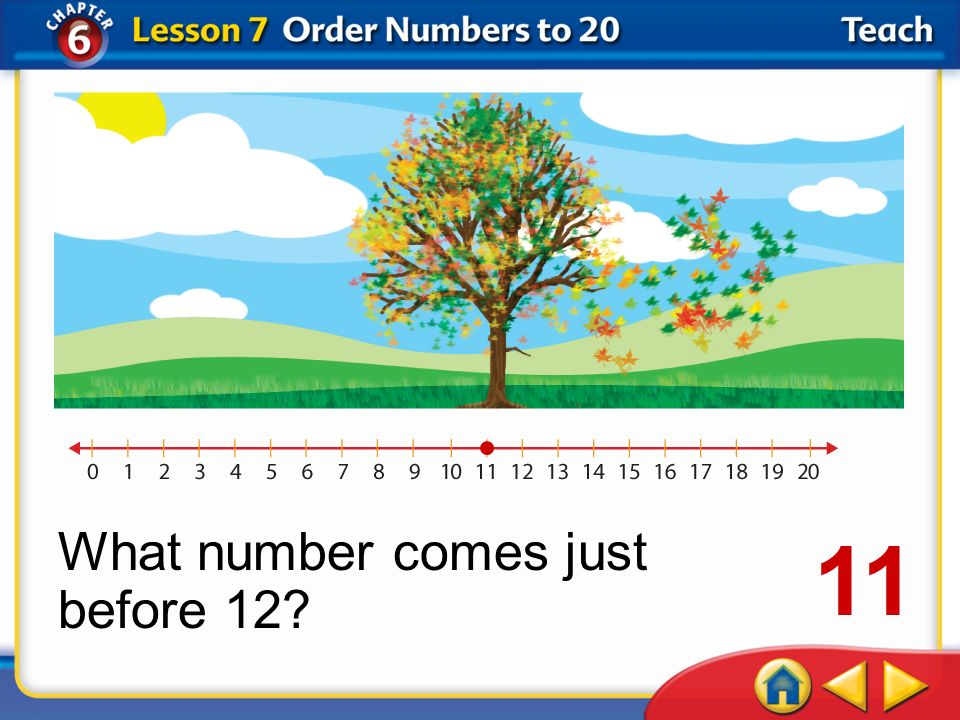 What number comes just before 12