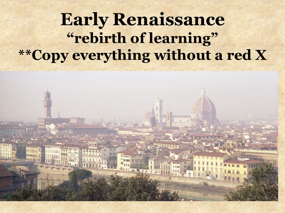Early Renaissance rebirth of learning
