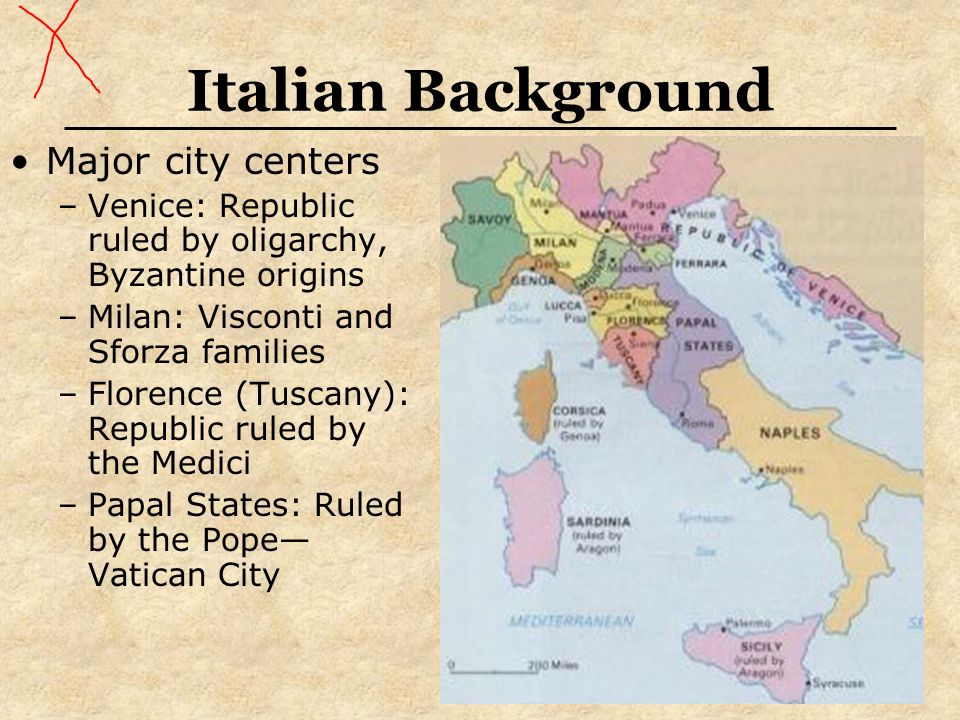 Italian Background Major city centers