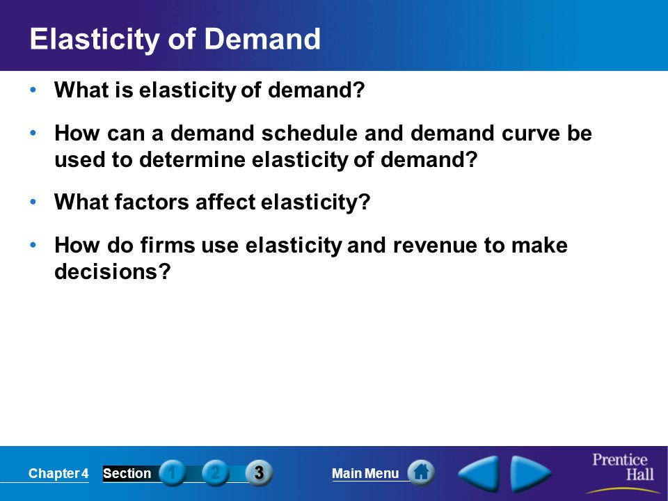 Elasticity of Demand What is elasticity of demand