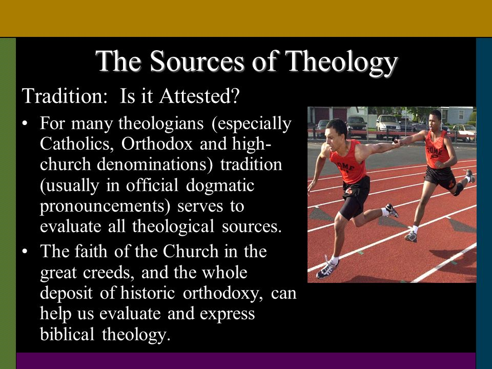 The Sources of Theology