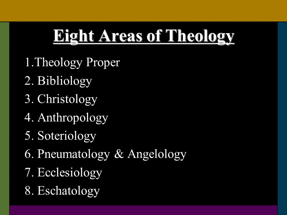 Eight Areas of Theology