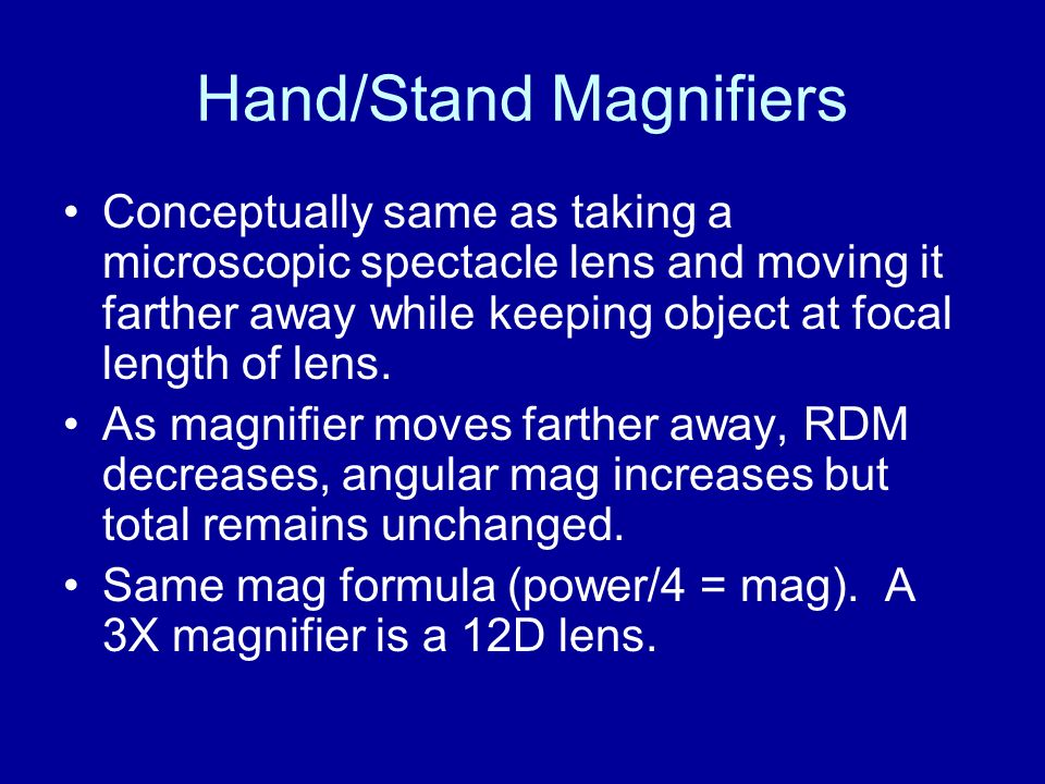 Hand/Stand Magnifiers