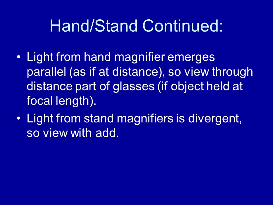 Hand/Stand Continued: