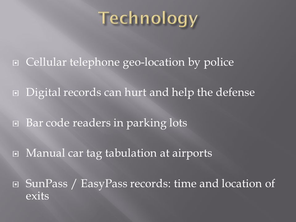 Technology Cellular telephone geo-location by police