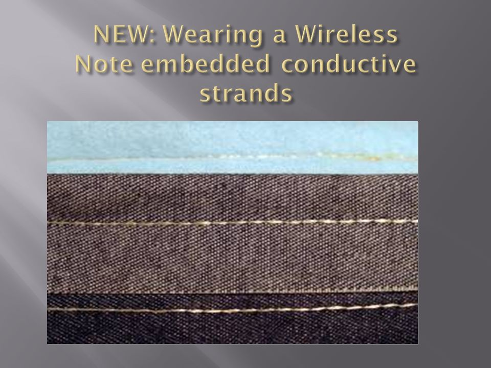NEW: Wearing a Wireless Note embedded conductive strands