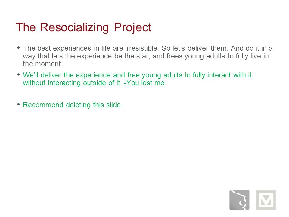 The Resocializing Project