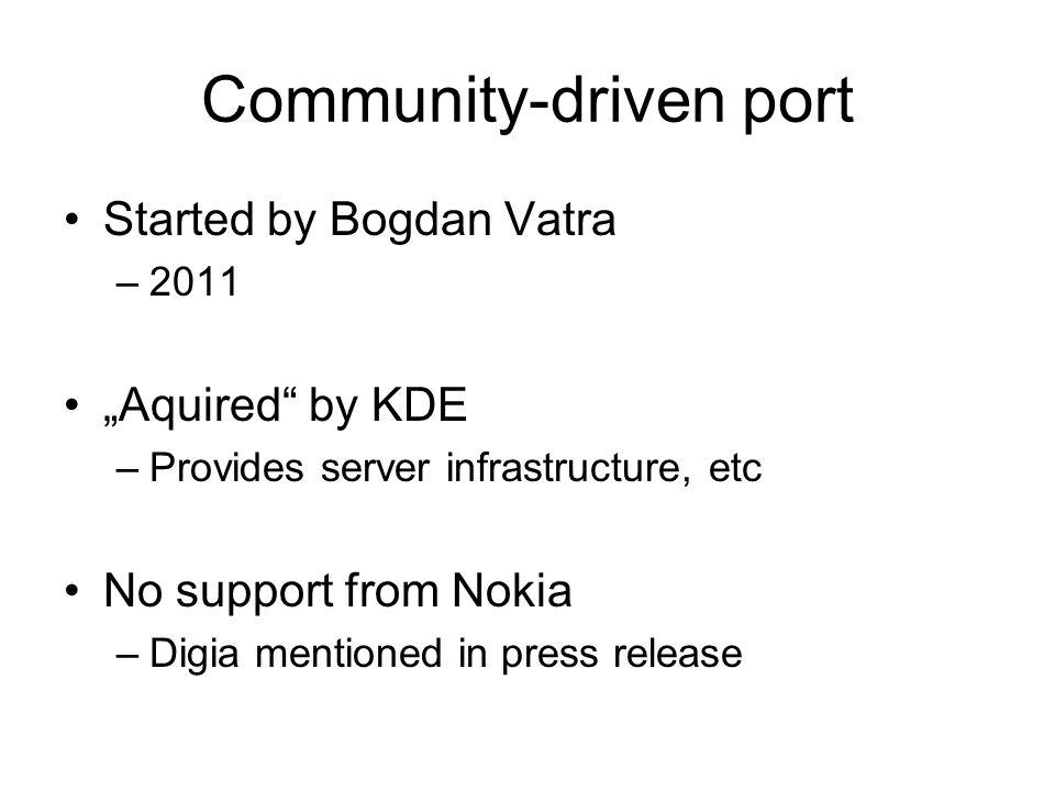 Community-driven port