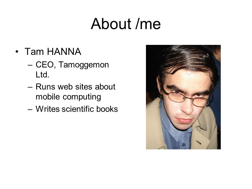 About /me Tam HANNA CEO, Tamoggemon Ltd.