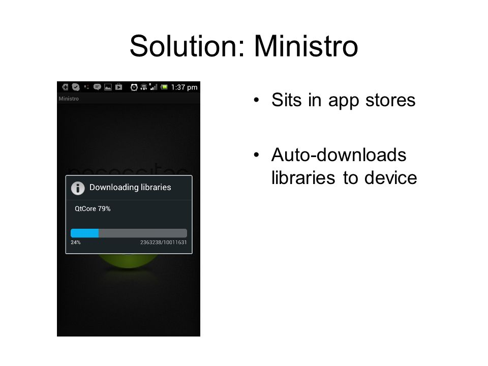 Solution: Ministro Sits in app stores