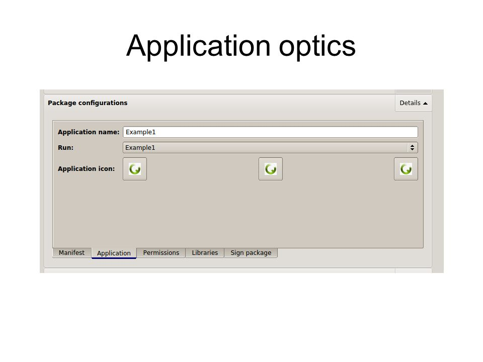 Application optics