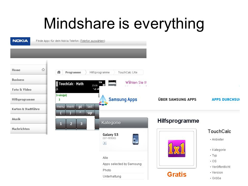 Mindshare is everything
