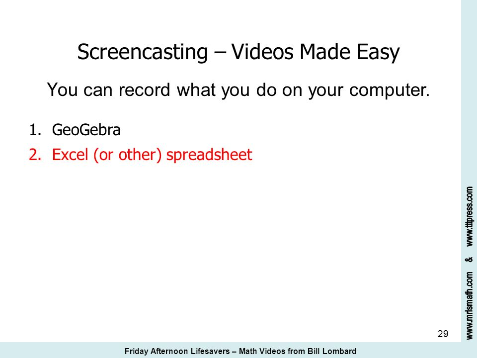 Screencasting – Videos Made Easy