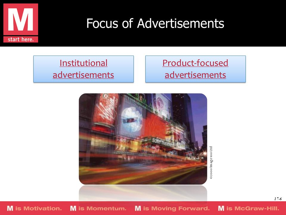 Focus of Advertisements